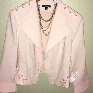 Dress barn light pink jacket